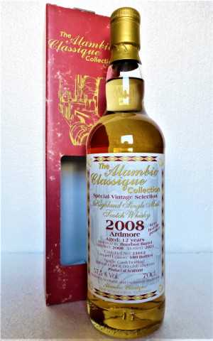ARDMORE 2008 VERY HEAVILY PEATED BOURBON BARREL 57,5% VOL SPECIAL VINTAGE SELECTION ALAMBIC CLASSIQUE