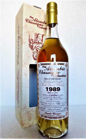 CAMBUS 1989 SHERRY CASK 60,8% VOL RARE & OLD SELECTION ALAMBIC CLASSIQUE
