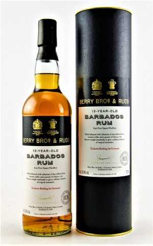 BARBADOS RUM 2004 FOR GERMANY FOURSQUARE DESTILLERIE 13 JAHRE 59% VOL BERRY BROS & RUDD
