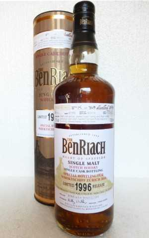 BENRIACH 1996 VIRGIN OAK HOGSHEAD 50,3% VOL SPECIAL BOTTLING FÜR WHISKYSCHIFF ZÜRICH 2014