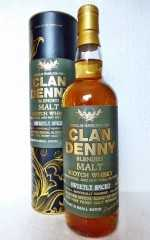 CLAN DENNY SWEETLY SPICED SMALL BATCH BLENDED MALT SCOTCH WHISKY 46,7% VOL DOUGLAS HAMILTON