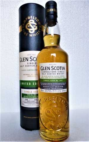 GLEN SCOTIA 2006 SINGLE CASK FIRST FILL BOURBON CASK UNPEATED 55,9% VOL ORIGINALABFÜLLUNG