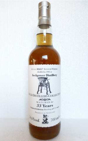 INCHGOWER 1982 33 JAHRE 54,6% VOL JACK WIEBERS AULD DISTILLERS COLLECTION