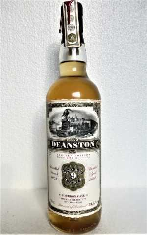 DEANSTON 2009 BOURBON CASK 9 JAHRE 59,6% VOL JACK WIEBERS OLD TRAIN LINE