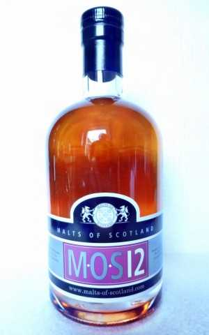 M-O-S 12 12 JAHRE 45% VOL  MALTS OF SCOTLAND