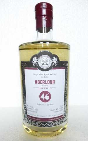 ABERLOUR 2000 BOURBON HOGSHEAD 46% VOL MALTS OF SCOTLAND