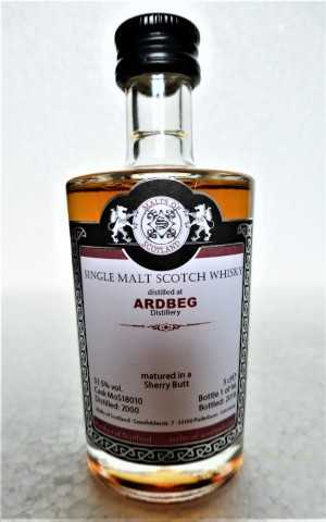 ARDBEG 2000 SHERRY BUTT 51,5% VOL MALTS OF SCOTLAND MINIATUR