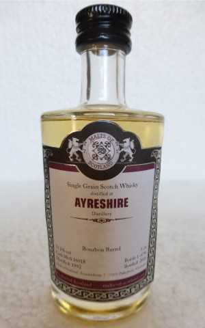AYRESHIRE 1992 BOURBON BARREL 53,2% VOL MALTS OF SCOTLAND MINIATUR