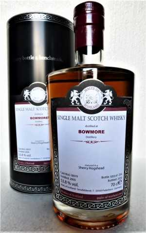 BOWMORE 2000 SHERRY HOGSHEAD 53,8% VOL MALTS OF SCOTLAND