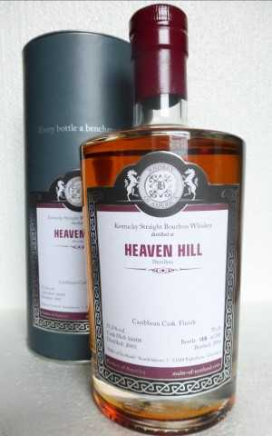 HEAVEN HILL 2001 KENTUCKY STRAIGHT BOURBON WHISKEY CARIBBEAN CASK FINISH 55,2% VOL MALTS OF SCOTLAND