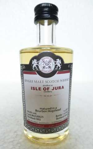 ISLE OF JURA 1992 BOURBON HOGSHEAD 44% VOL MALTS OF SCOTLAND MINIATUR
