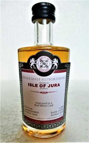 ISLE OF JURA 2000 RED WINE CASK 55,2% VOL MALTS OF SCOTLAND MINIATUR