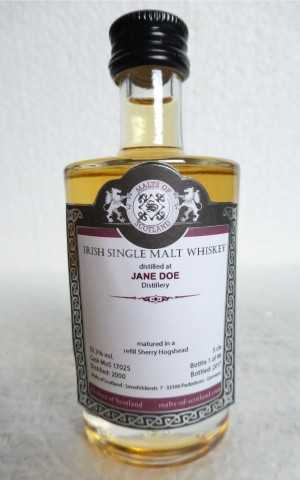 JANE DOE 2000 REFILL SHERRY HOGSHEAD 53,3% VOL MALTS OF SCOTLAND MINIATUR