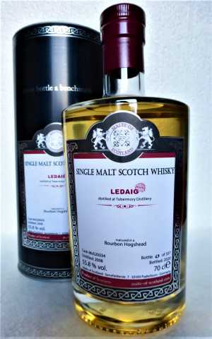 LEDAIG 2008 BOURBON HOGSHEAD 55,8% VOL MALTS OF SCOTLAND