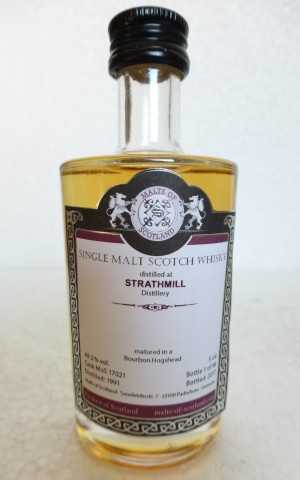 STRATHMILL 1991 BOURBON HOGSHEAD 49,3% VOL MALTS OF SCOTLAND MINIATUR