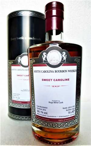 SWEET CAROLINE 2012 SOUTH CAROLINA BOURBON WHISKEY RIOJA WINE CASK FINISH 58,1% VOL MALTS OF SCOTLAND