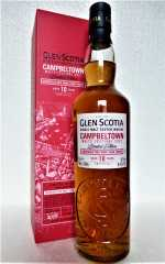 GLEN SCOTIA 10 JAHRE BORDEAUX RED WINE CASK FINISH UNPEATED 56,1% VOL CAMPBELTOWN MALTS FESTIVAL 2021