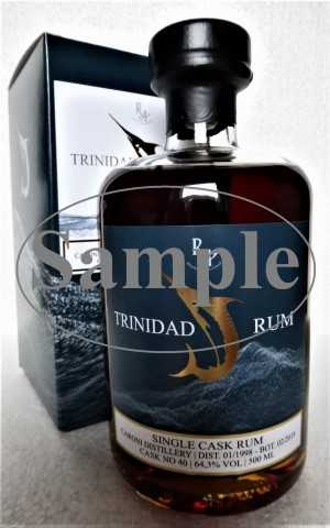 TRINIDAD SINGLE CASK RUM 1998 CARONI DESTILLERIE 20 JAHRE 64,3% VOL RA RUM ARTESANAL SAMPLE