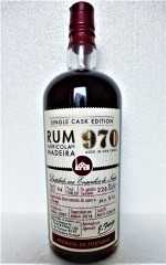 RUM 970 SINGLE CASK EDITION  ENGENHOS DO NORTE DESTILLERIE  AGRÍCOLA DA MADEIRA 55% VOL ORIGINALABFÜLLUNG