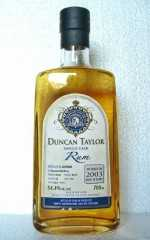 GUYANA 2003 DIAMOND DISTILLERYSINGLE CASK RUM 54,4% VOL DUNCAN TAYLOR