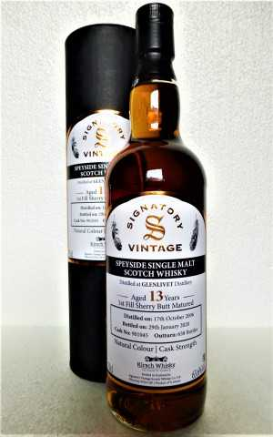 GLENLIVET 2006 EXCLUSIVE FOR GERMANY FIRST FILL SHERRY BUTT 63,6% VOL SIGNATORY