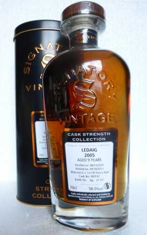 LEDAIG 2005 1ST FILL SHERRY BUTT 56% VOL SIGNATORY CASK STRENGTH COLLECTION