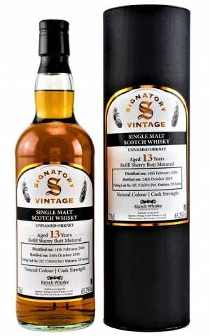 UNNAMED ORKNEY 2006 EXCLUSIVE FOR GERMANY REFILL SHERRY BUTT 65,2% VOL SIGNATORY