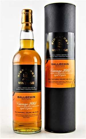 BALLECHIN 2007 EXCLUSIVE FOR GERMANY SHERRY AND BOURBON CASK 48,1% VOL SIGNATORY SMALL BATCH EDITION #2