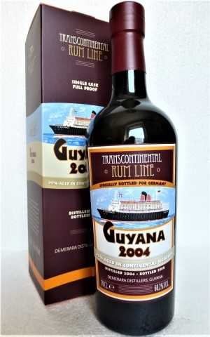 GUYANA RUM 2004 DEMERARA DISTILLERS EXCLUSIVE FOR GERMANY 60,2% VOL TRANSCONTINENTAL RUM LINE