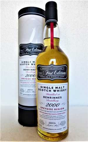 BENRINNES 2000 BOURBON BARREL 49,4% VOL FIRST EDITIONS