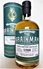 NORTH BRITISH 1988 FOR GERMANY BOURBON CASK 46,4% VOL THE GRAINMAN