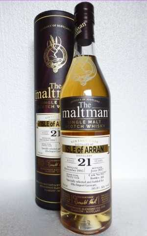 ISLE OF ARRAN 1995 SHERRY CASK 50,3% VOL THE MALTMAN EXCLUSIVE FOR GERMANY