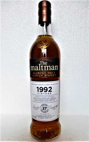VINTAGE BLENDED MALT 1992 REFILL SHERRY BUTT 27 JAHRE 42% VOL THE MALTMAN