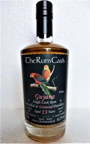 "GUYANA SINGLE CASK RUM 2004 ""WHITE"" DIAMOND DESTILLERIE 13 JAHRE 61,2% VOL THERUMCASK"