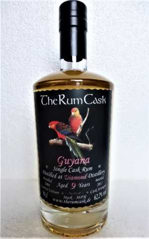 GUYANA SINGLE CASK RUM 2008 DIAMOND DESTILLERIE 9 JAHRE 62,2% VOL THERUMCASK