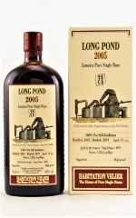 HABITATION VELIER LONG POND 2005 TECA JAMAICA PURE SINGLE RUM 62% VOL VELIER