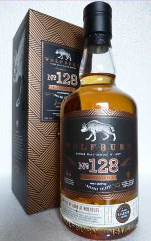 WOLFBURN NO.128 FIRST FILL EX BOURBON BARRELS LIGHTLY PEATED 46% VOL SMALL BATCH RELEASE